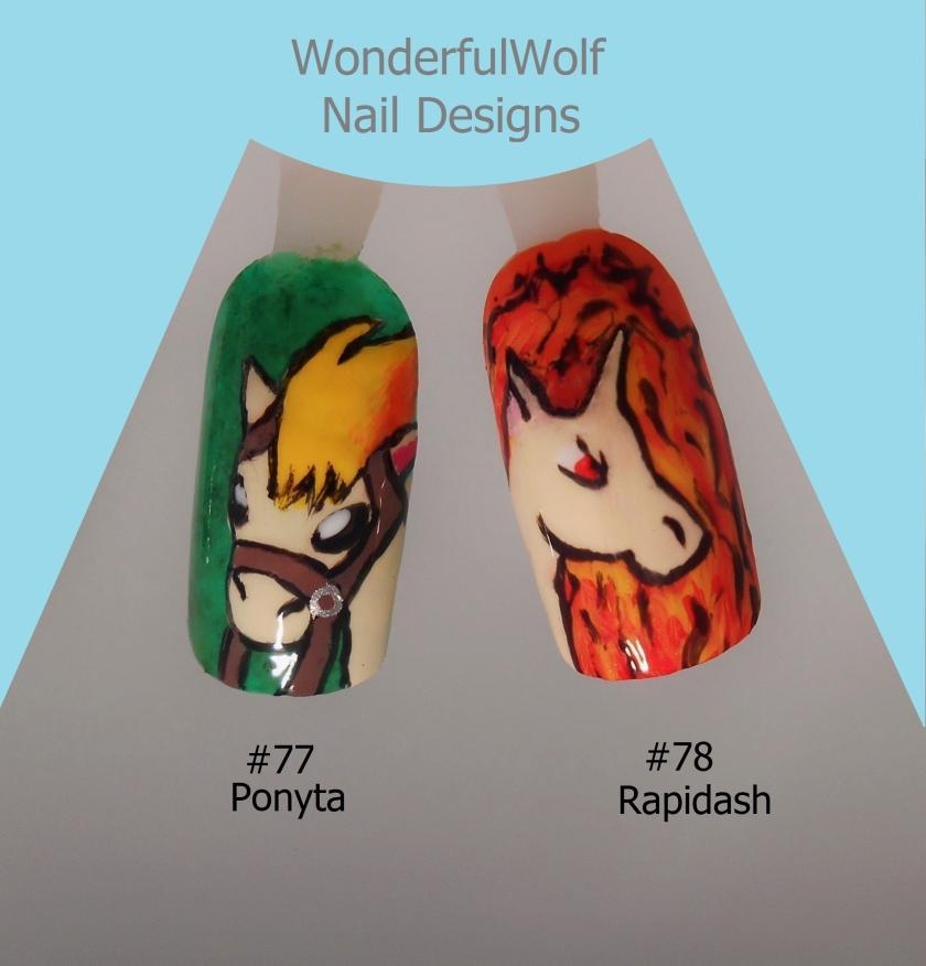 Ponyta and Rapidash Nail Art