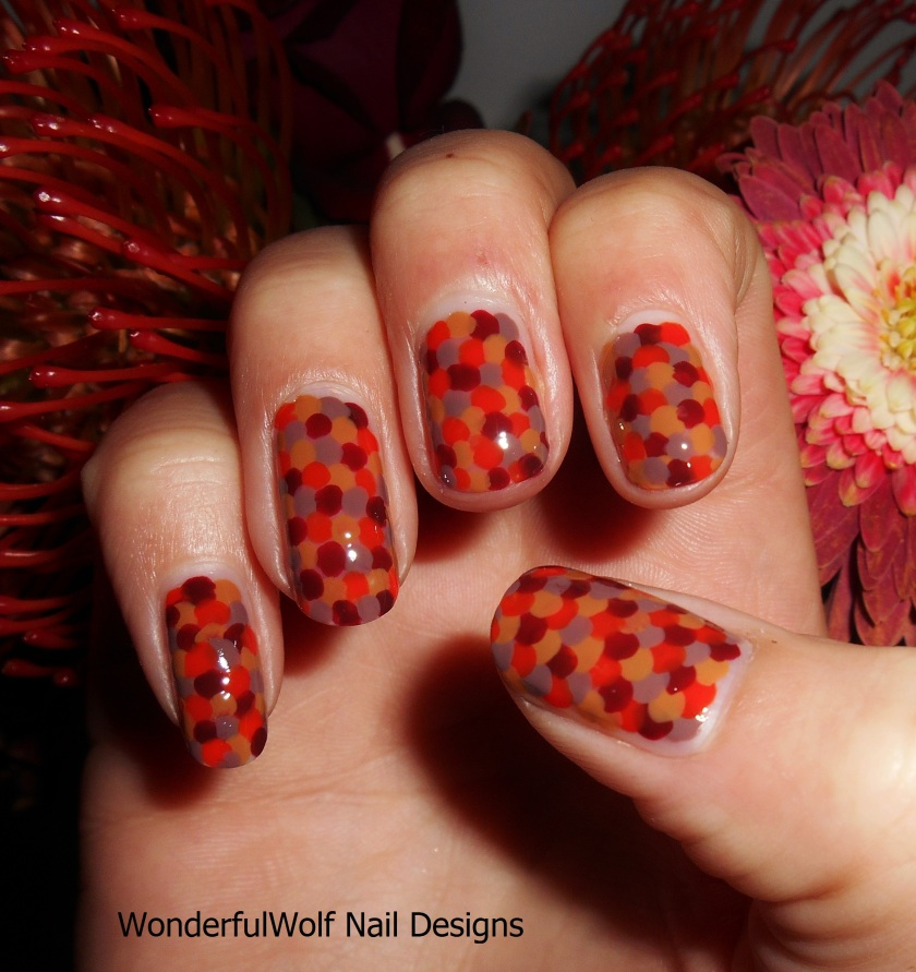 Autumn Scales Nail Art