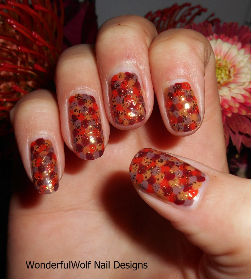 Autumn Scales with Glitter