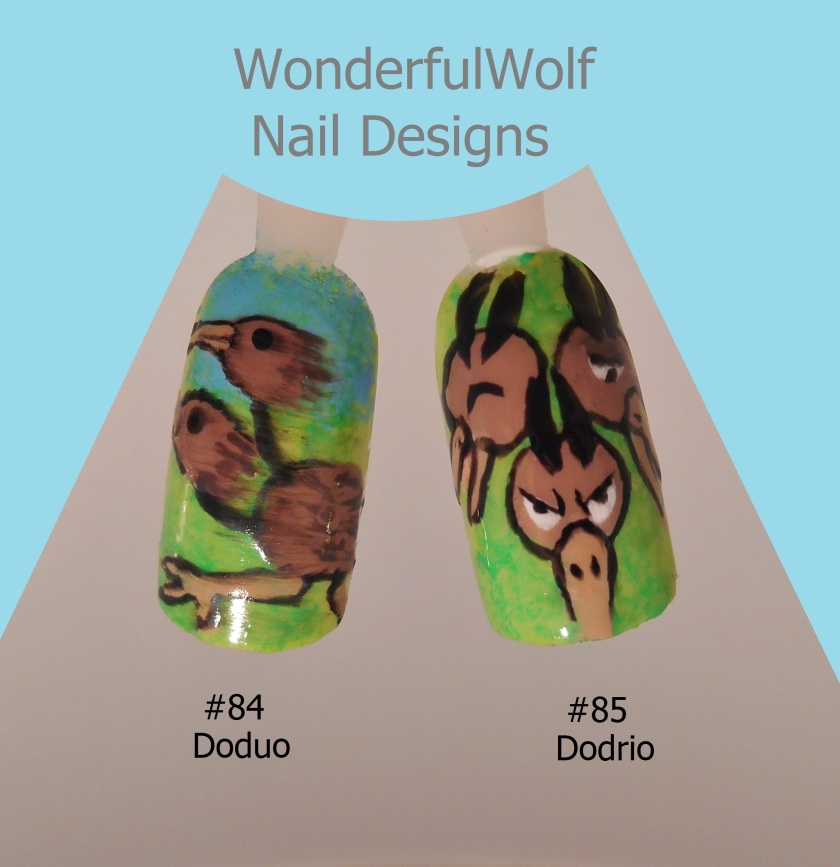 Doduo and Dodrio Nail Art