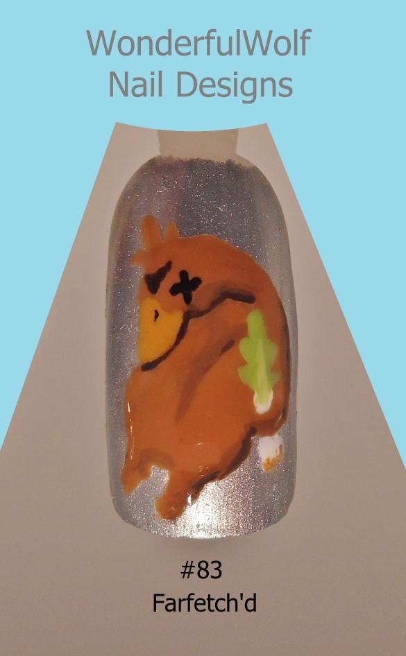 Farfetch'd Nail Art