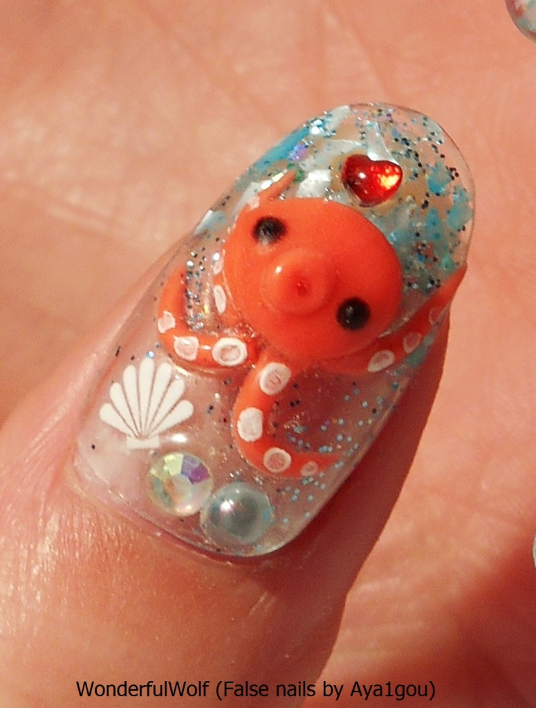 Close-up of the super cute Octopus thumb. I specifically requested these be included as they're so cute and a bit of a signature for Aya1gou I think!