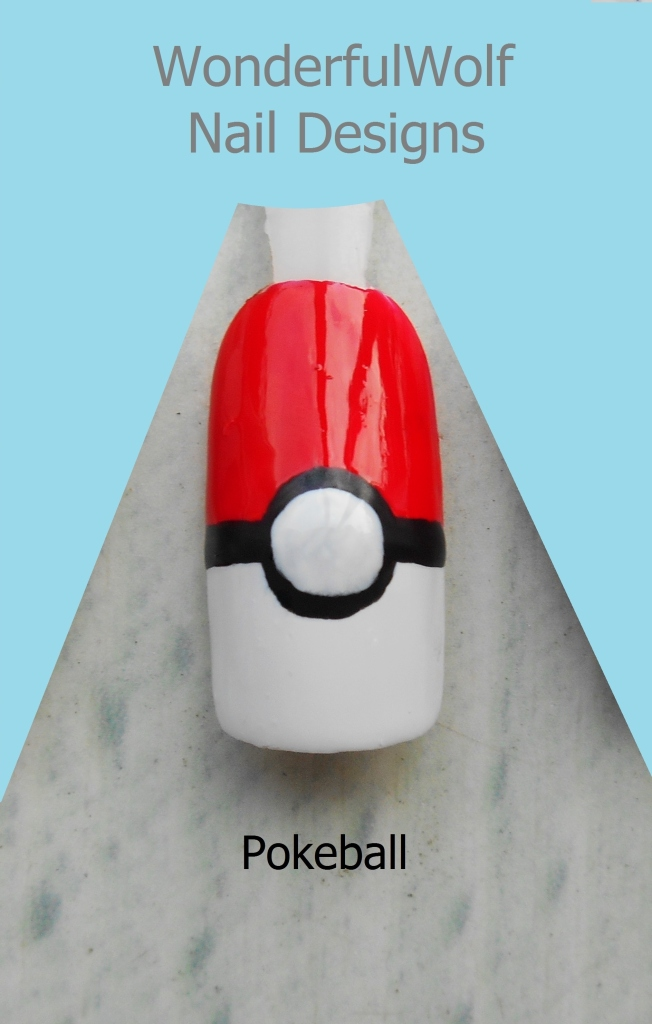 Pokeball Nail Art