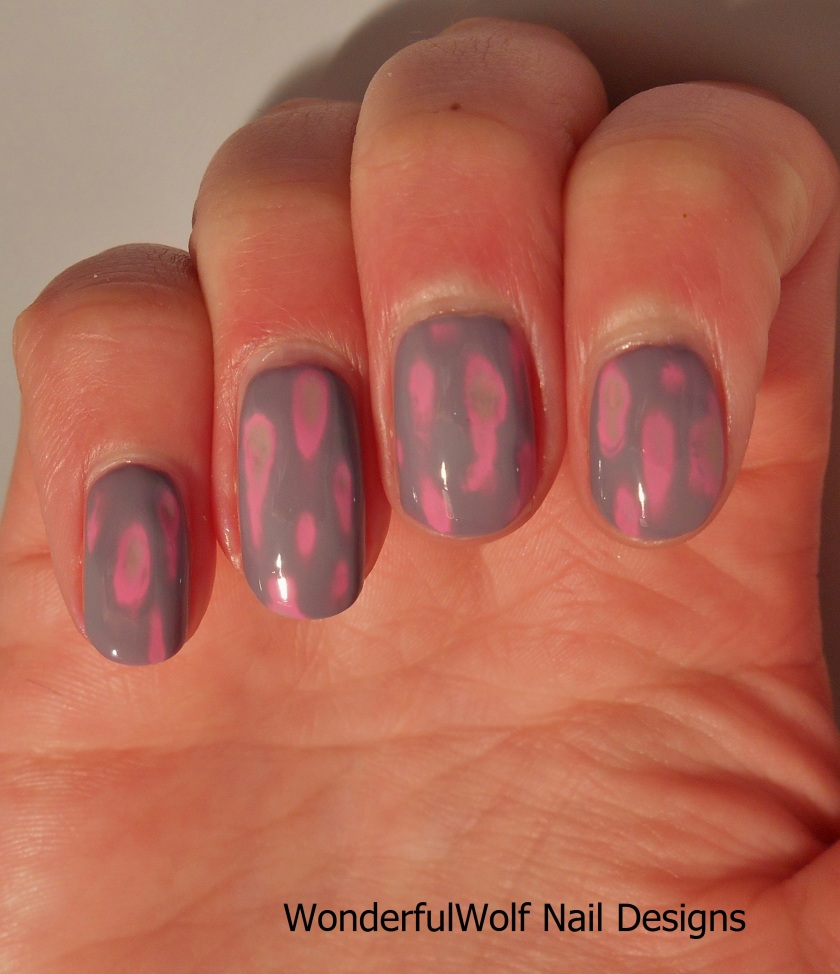 Acid Wash Nail Art