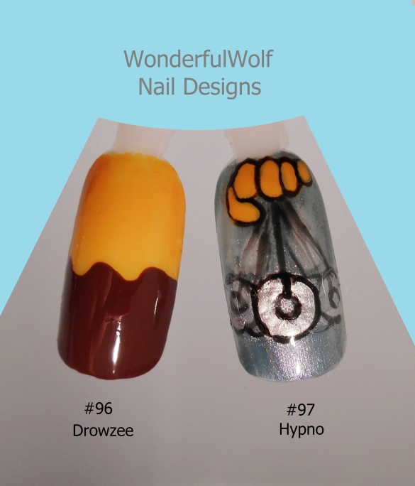 Drowzee and Hypno Nail Art
