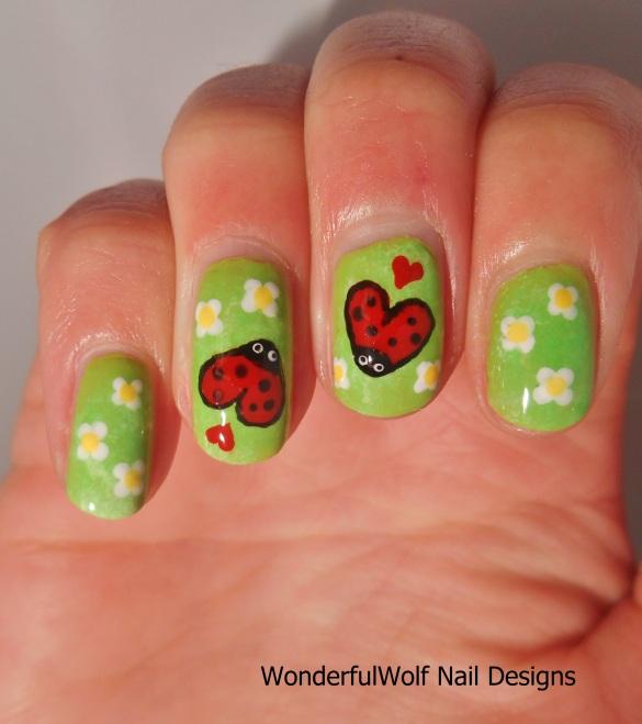 Love Bugs Nail Art
