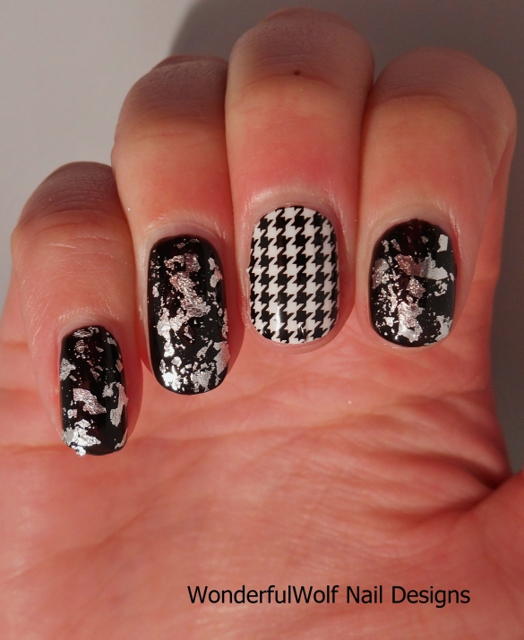Houndstooth with Silver Foil