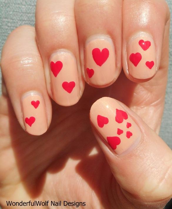 Simple Heart Nail Art