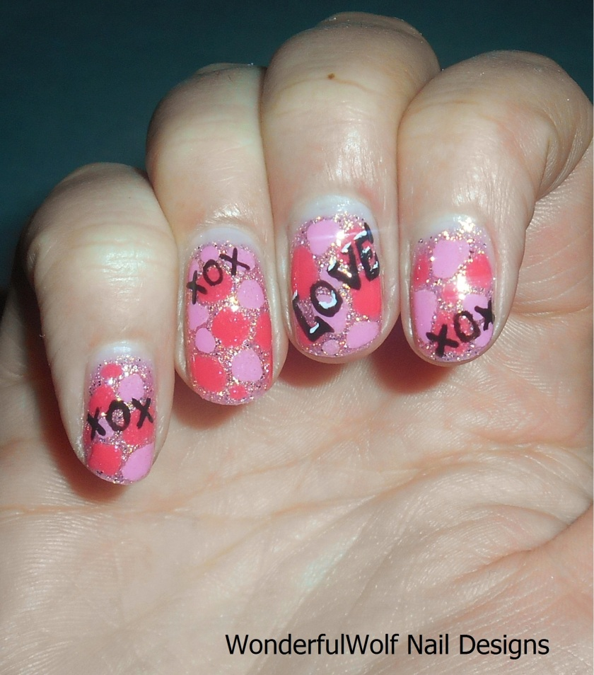 Valentines Blobicure Nail Art