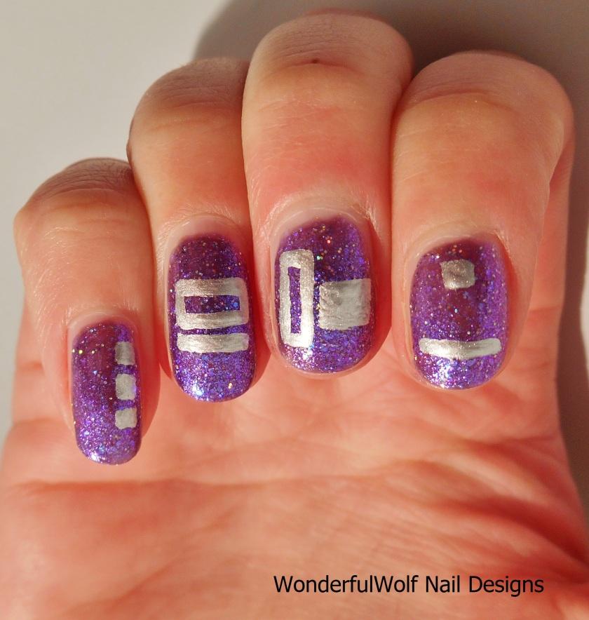 Futuristic Nail Art