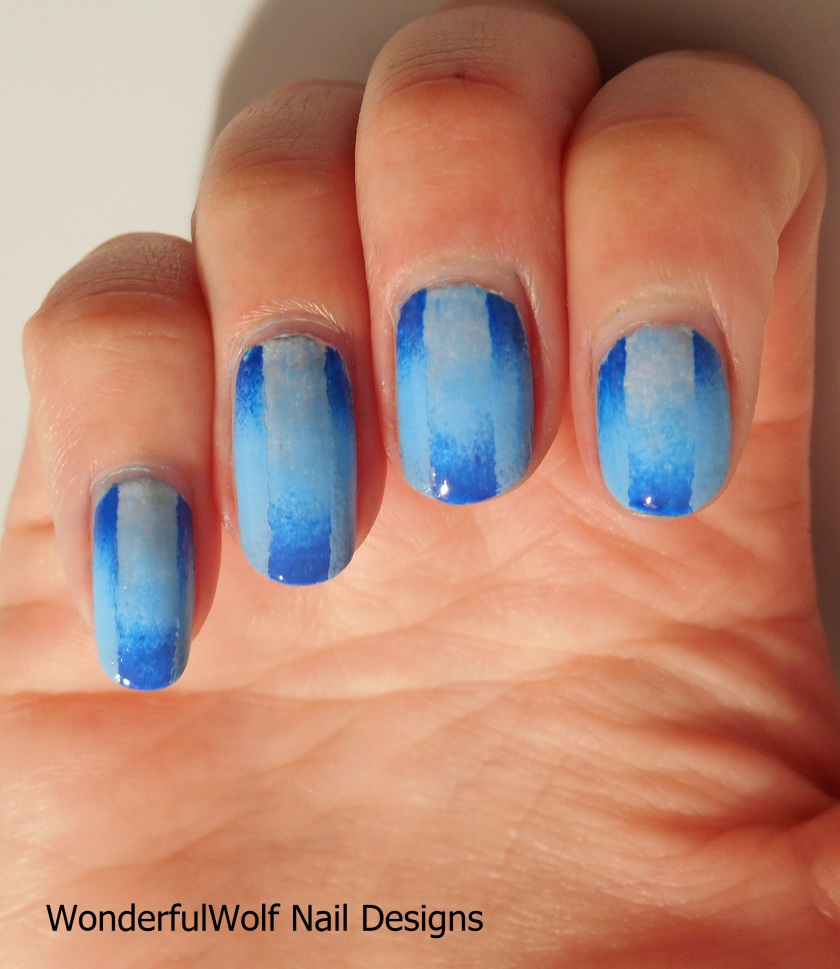 Blue Ombre on Ombre