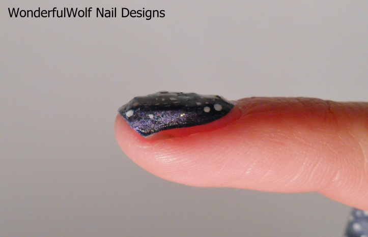 Side View of NFC Nail Sticker.