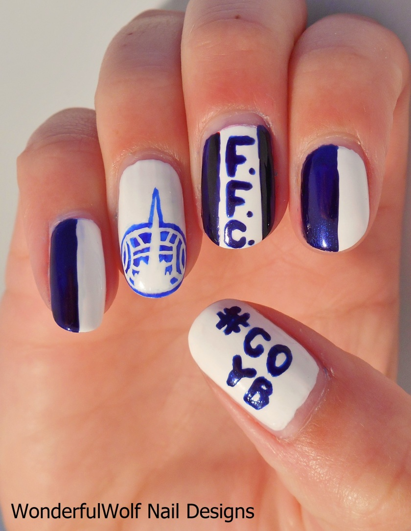 Falkirk Football Club Nail Art