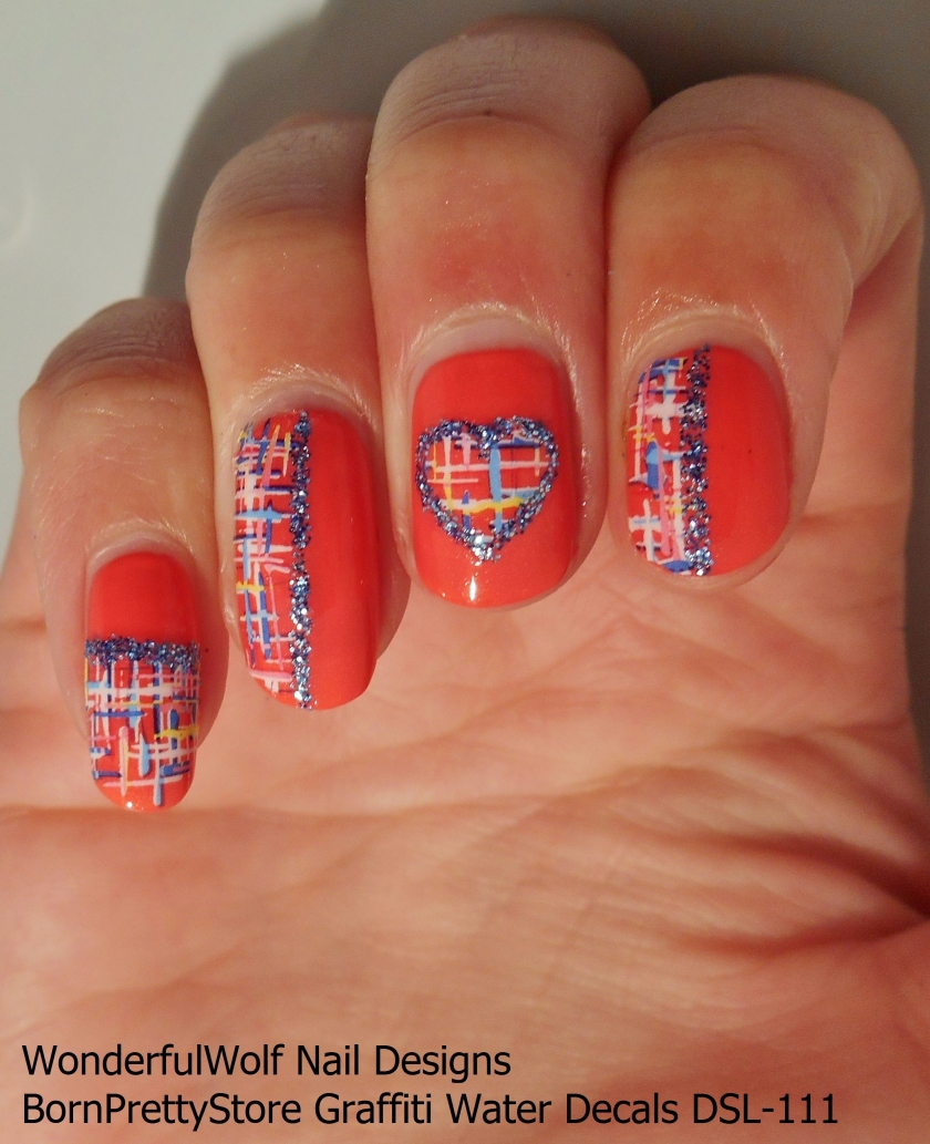 Glitter Lined Water Decals