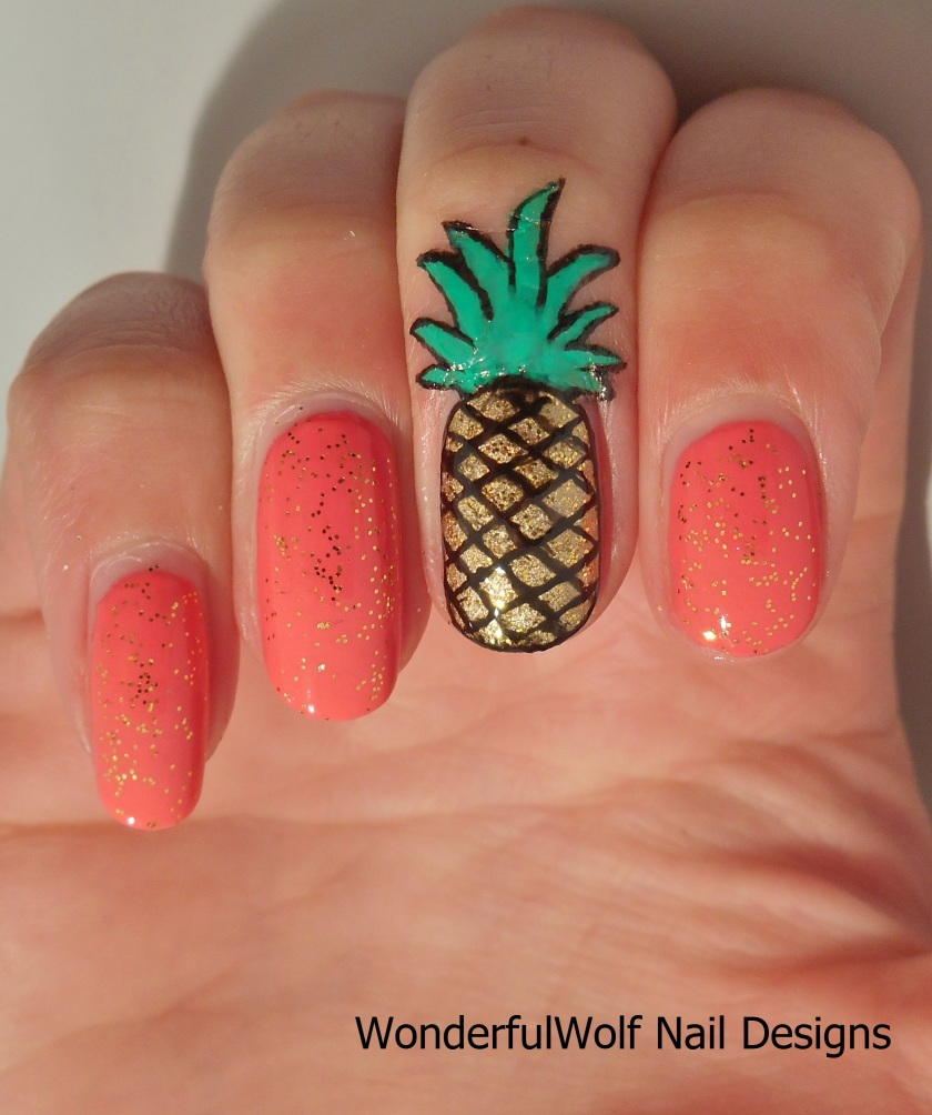 Fruity Pineapple Nail Art