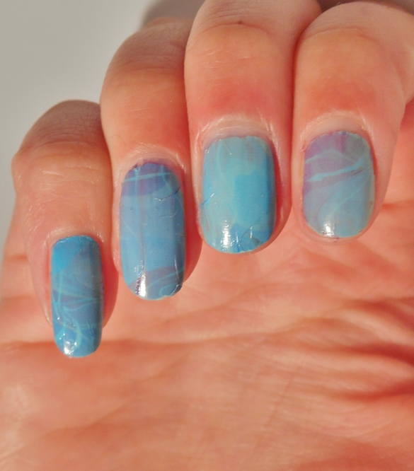 Wrinkly looking water decals, but they do have a pretty pattern!