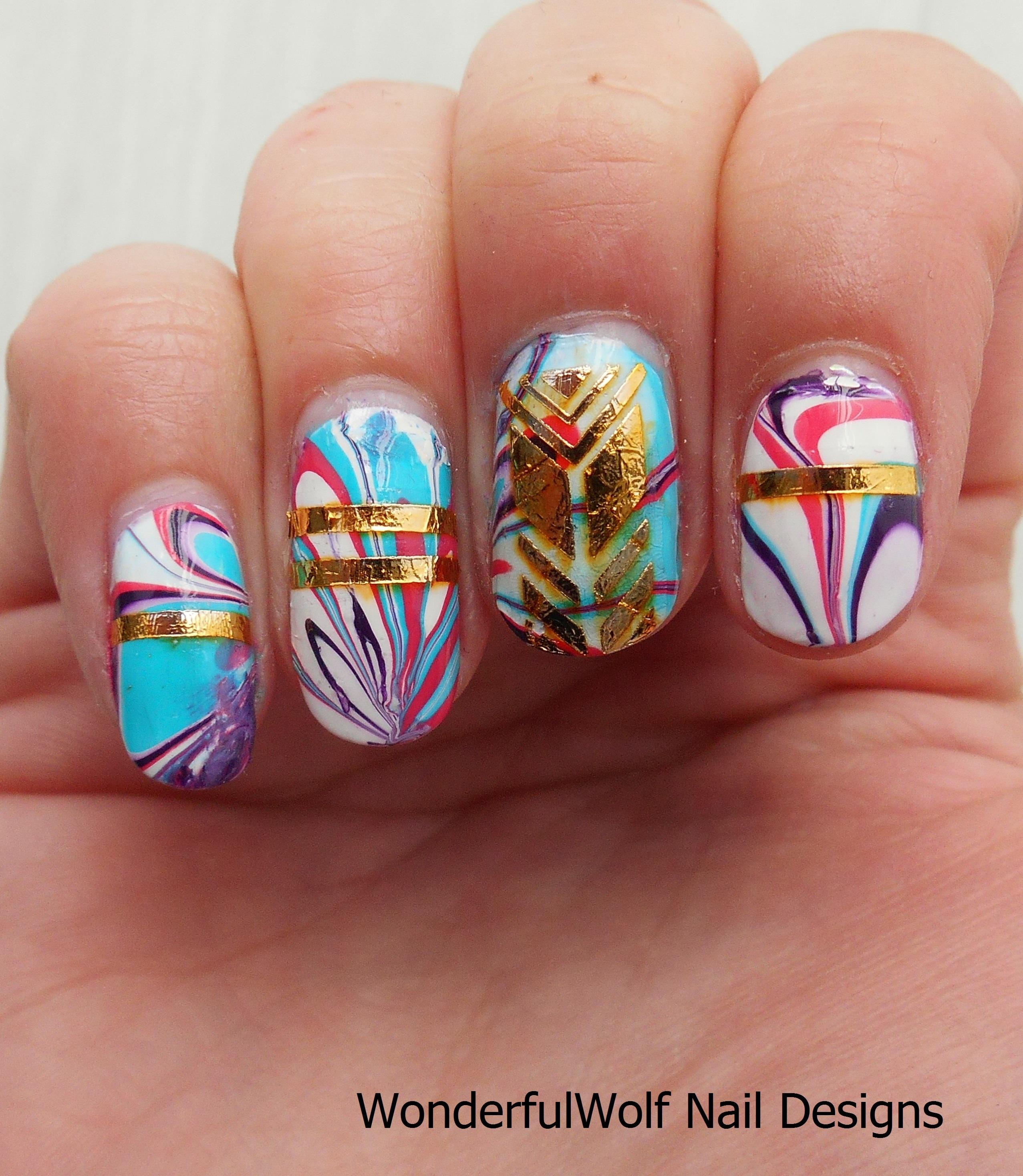 Water Marbling Nail Art – WonderfulWolf