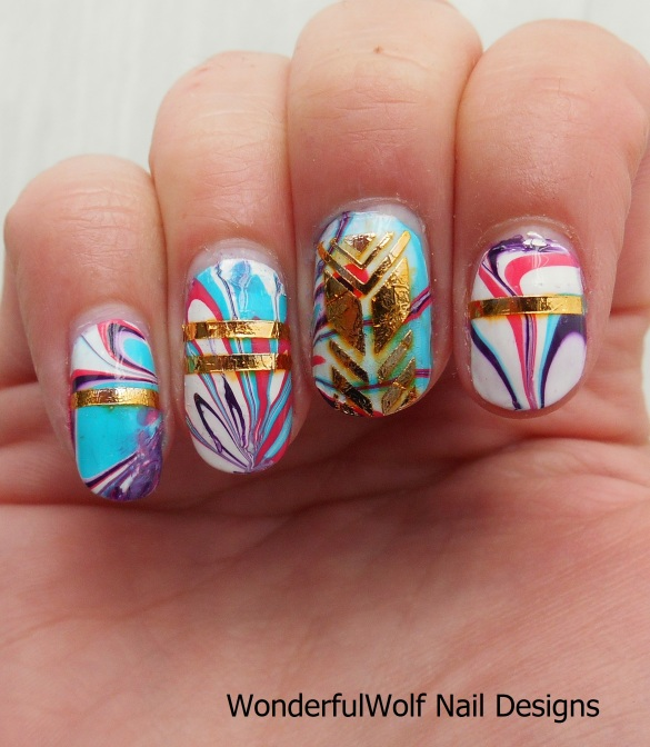 WaterMarble Gold Tattoos