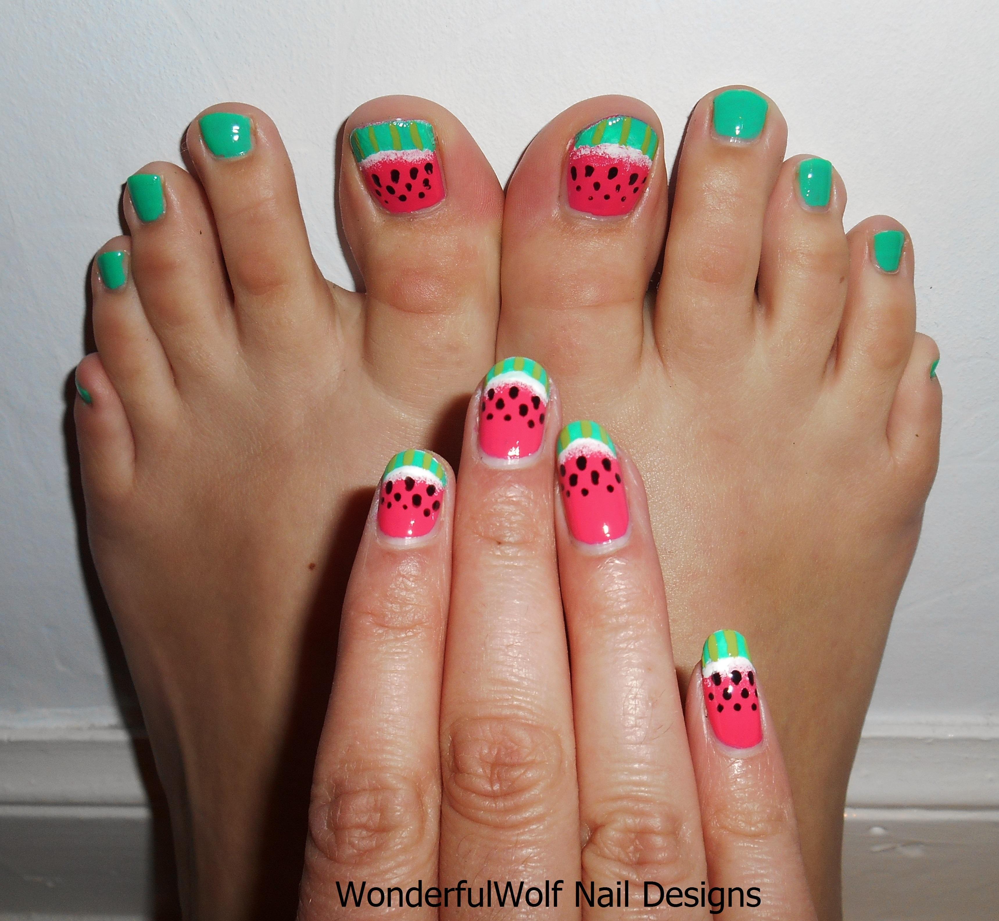 Watermelon Nail Art Wonderfulwolf