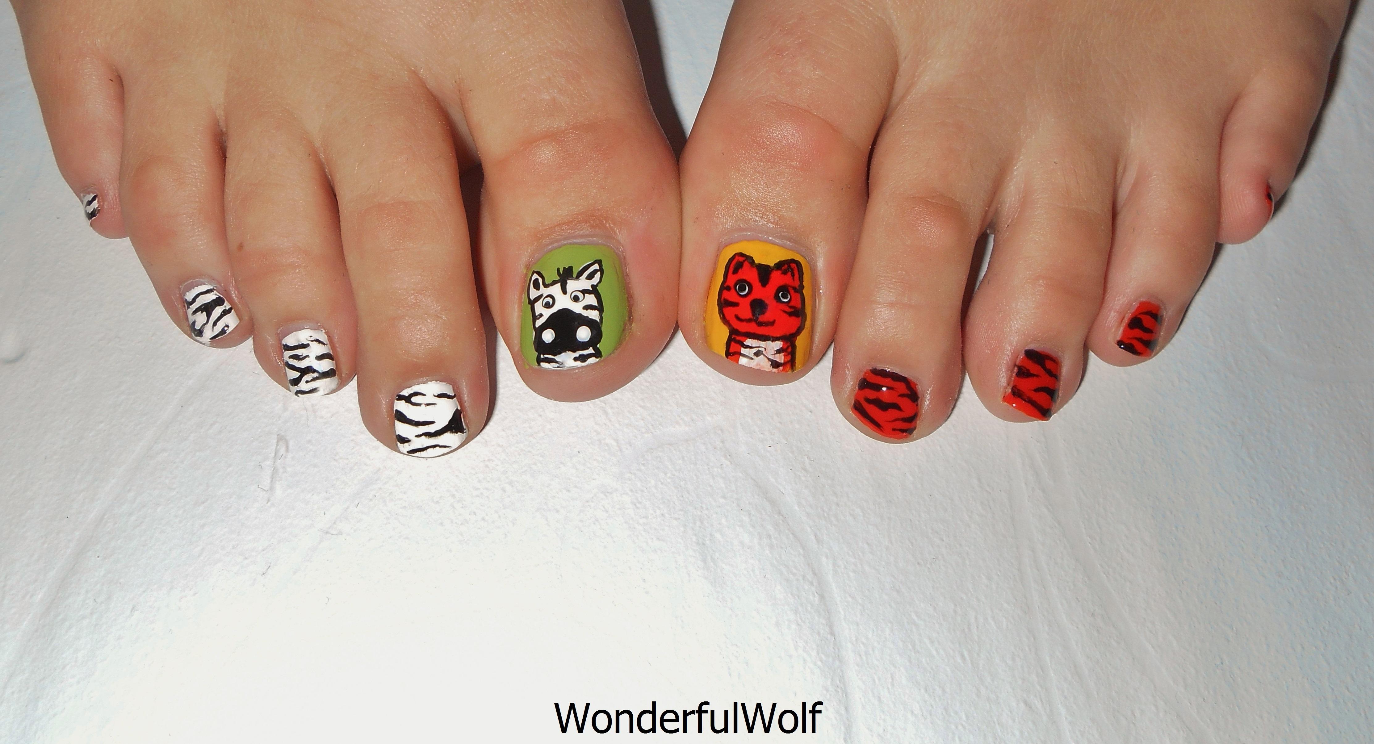 Animal Print Nail Art Wonderfulwolf