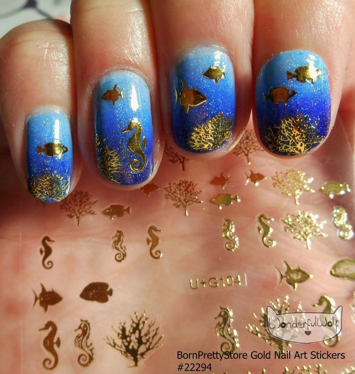 #22295 Gold Sealife Design