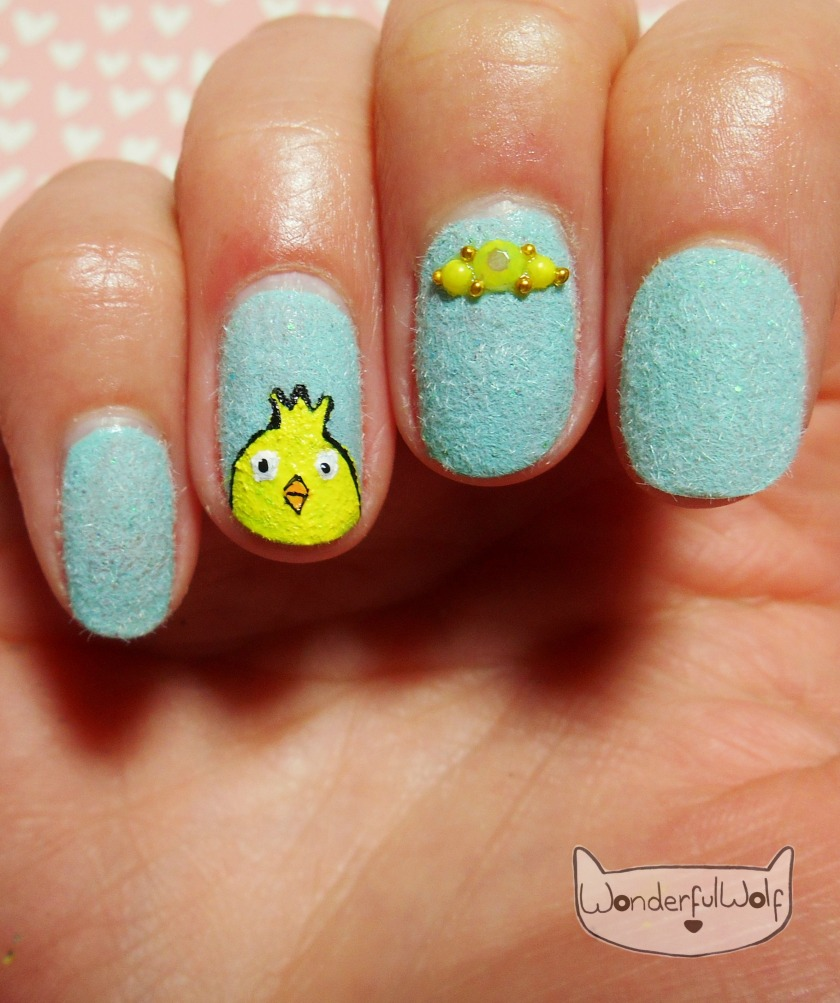 Fluffy Chick Nail Art