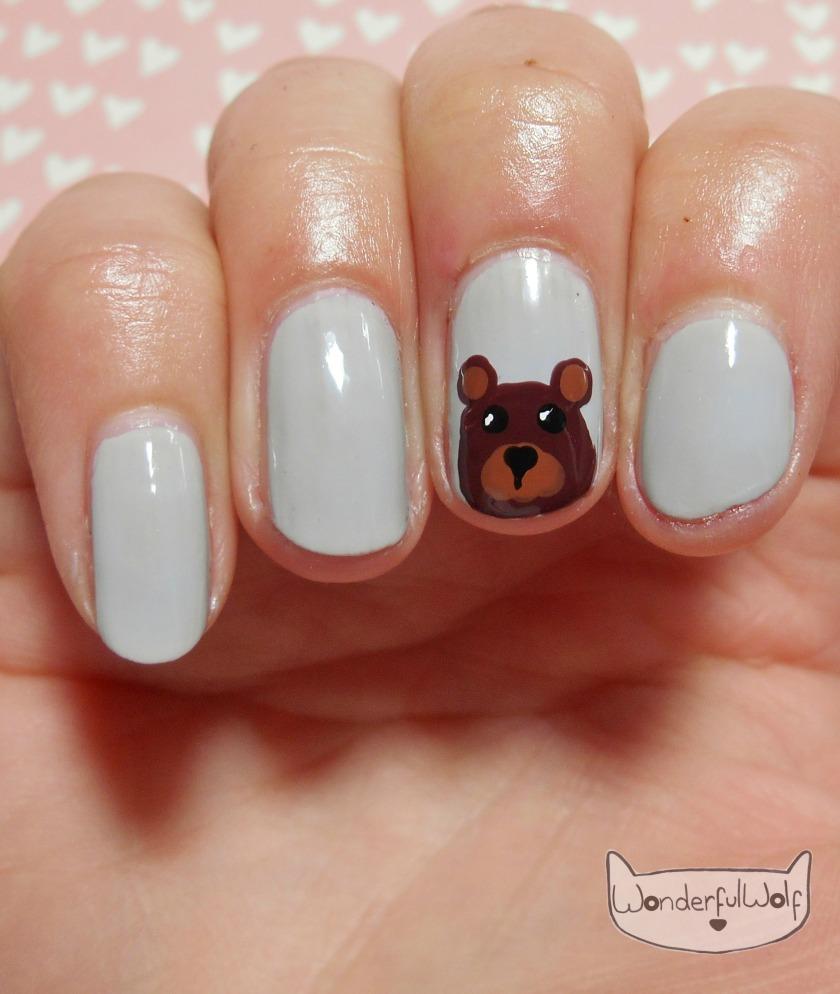Bear Nail Art
