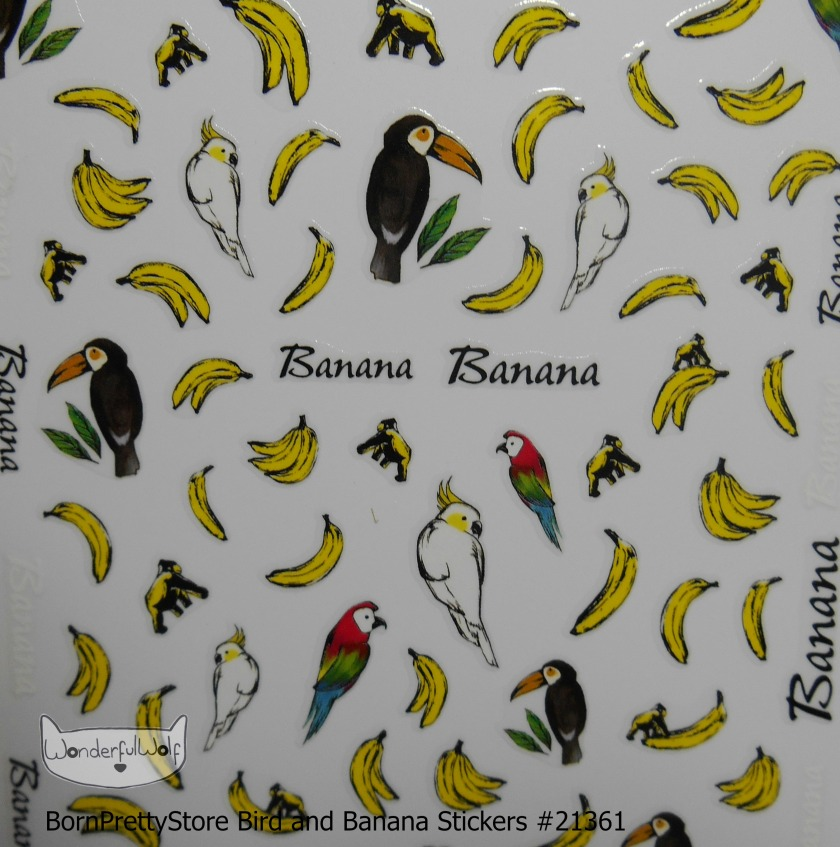 Banana and Bird Stickers 21361