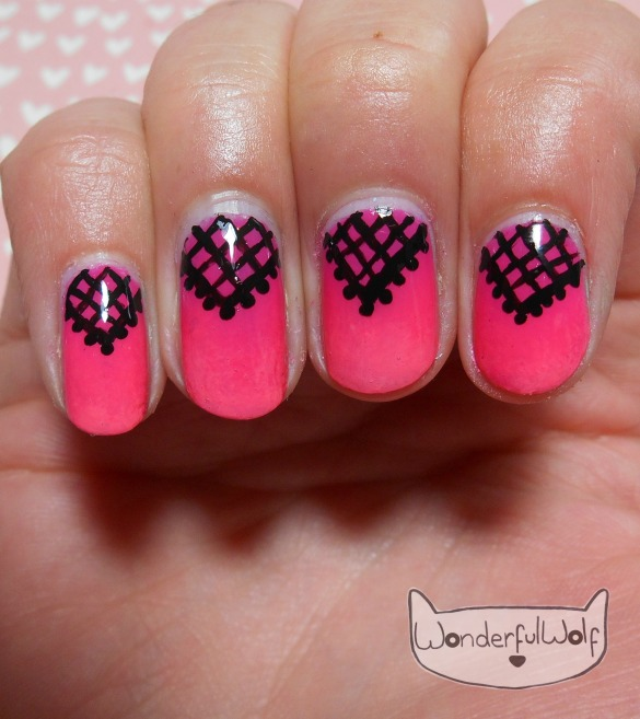 Ombre Lace Nail Art
