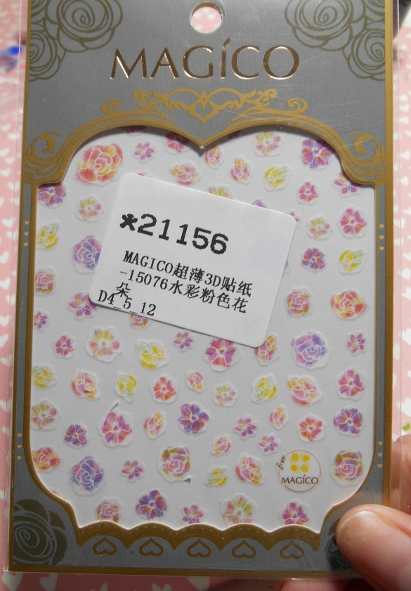 Pink Flower Stickers 21156