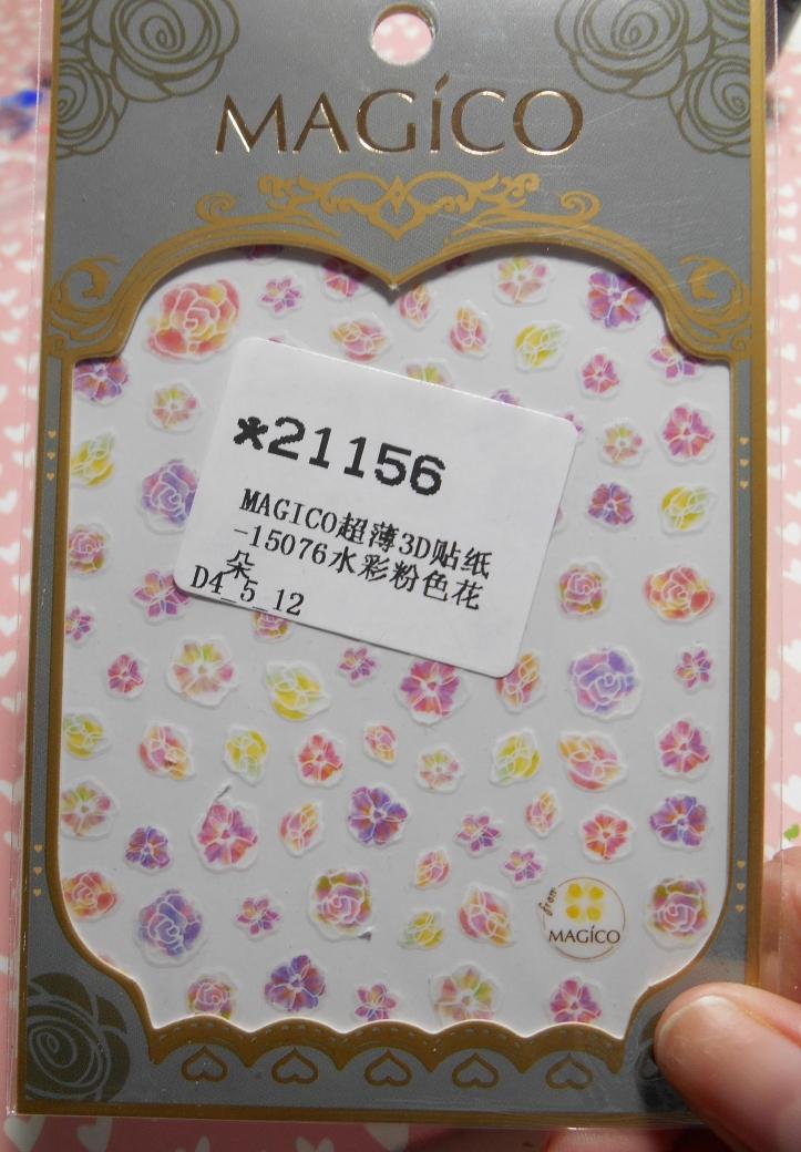 Pink Flower Stickers 21156