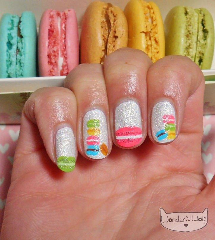 Textured Macaron Nail Art
