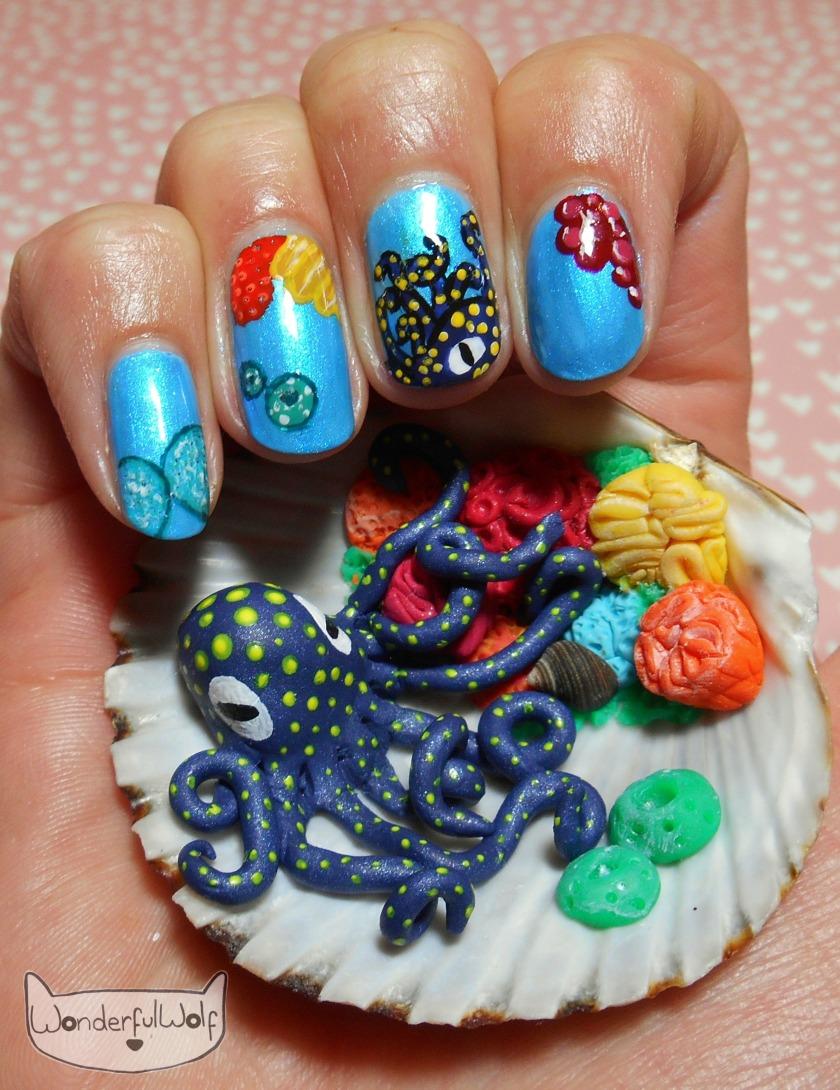 OctopusShellNailArt