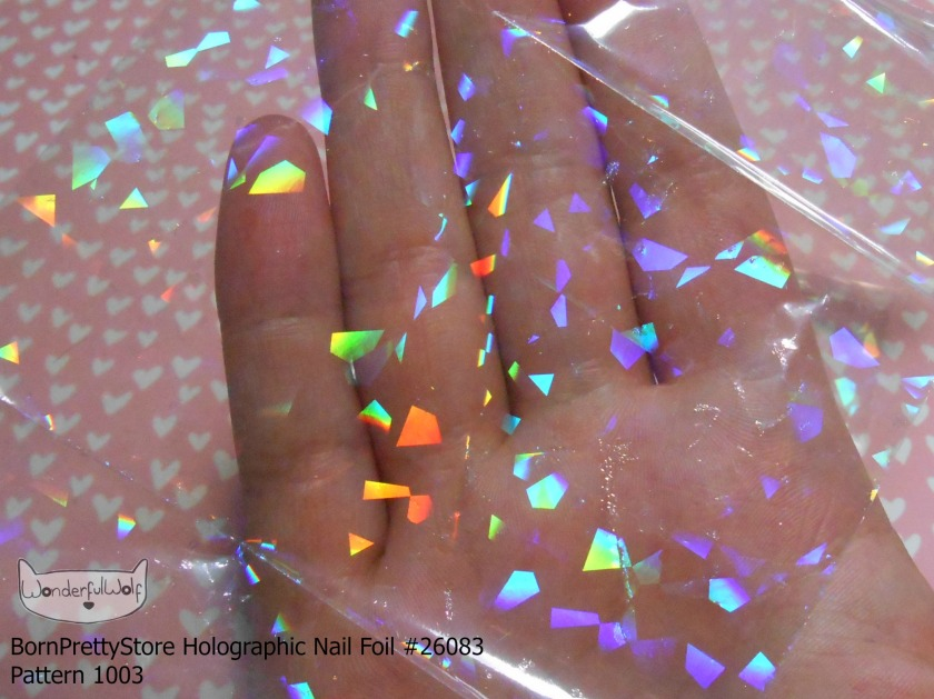 Holographic Foil Detail