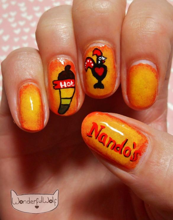 Nandos Nail Art