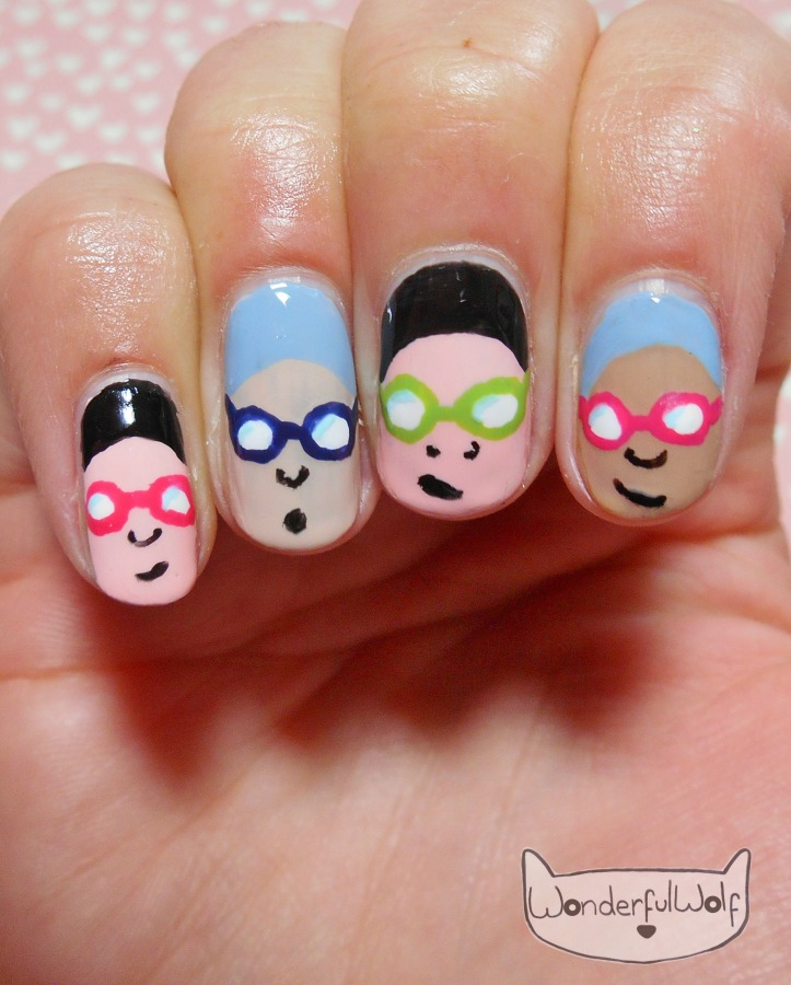 Swimming Gala Nail Art.JPG
