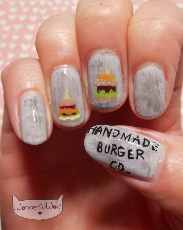 Handmade Burger Co Nail Art