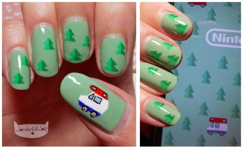 Animal Crossing Pocket Camp Nail Art