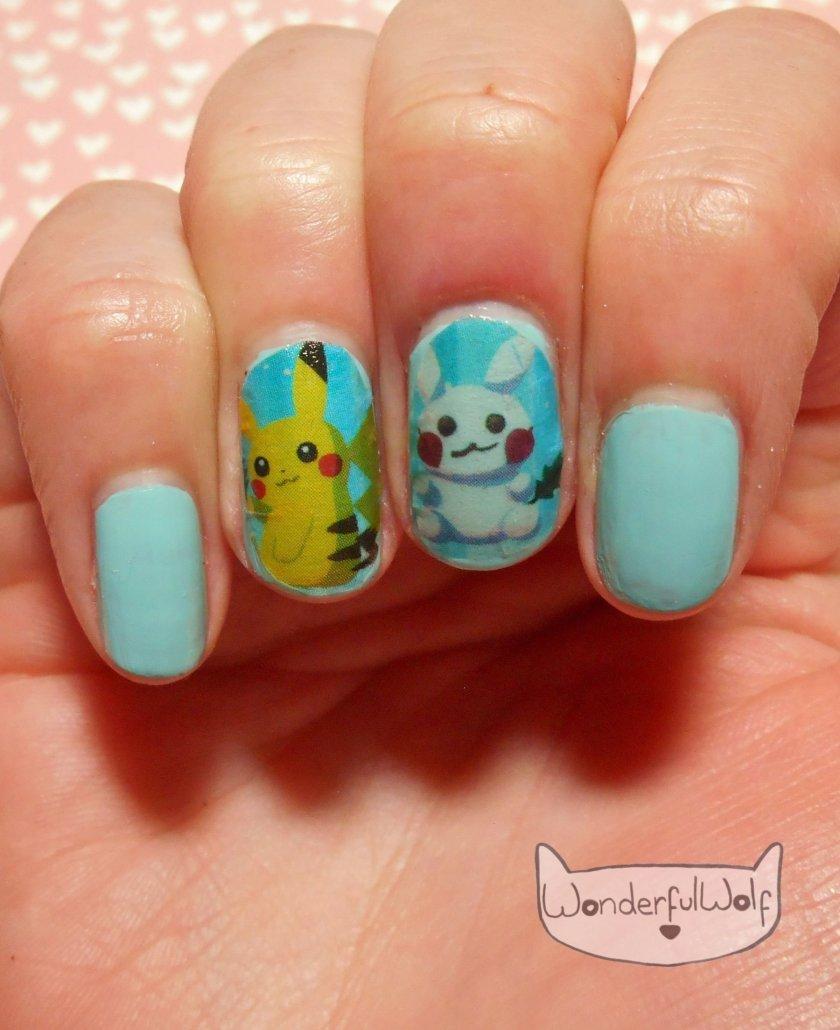 Pikachu Washi Tape Mani