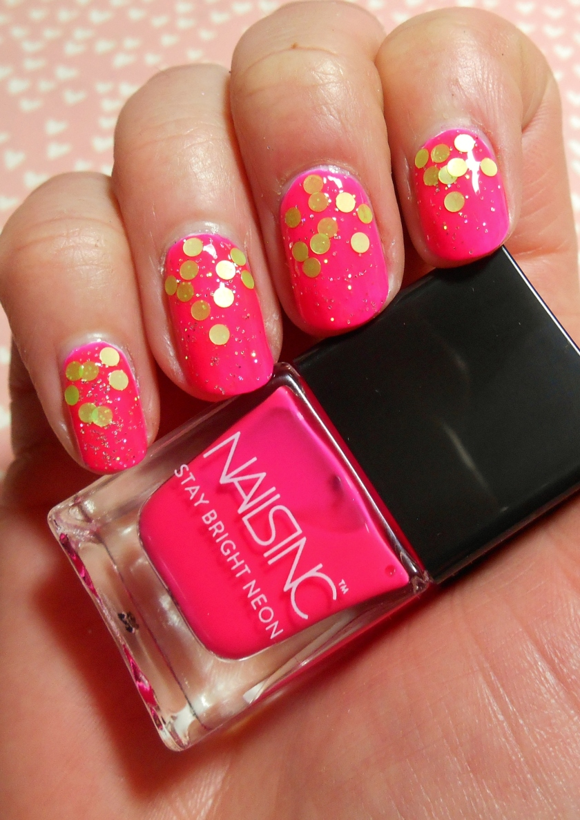 Nails Inc Stay Bright Neon Pink Party Nails.JPG