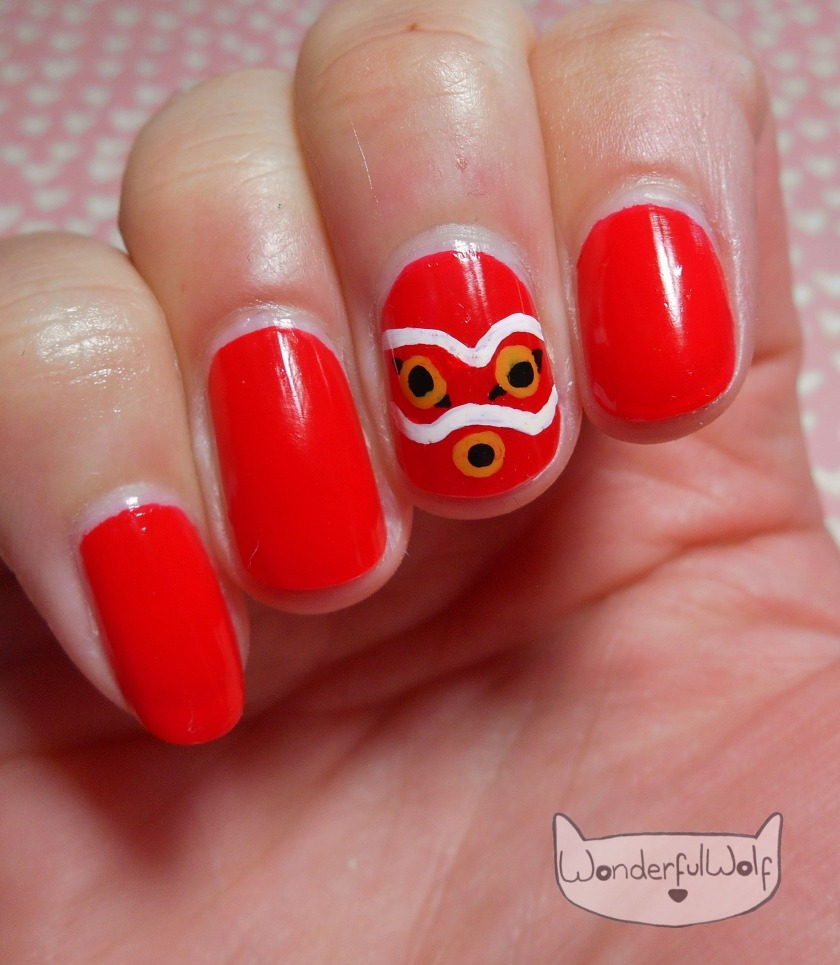 Princess Mononoke Nail Art