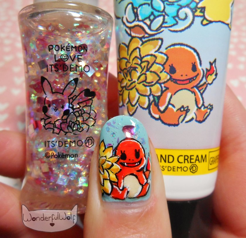 Pokemon x Its Demo Charmander nail art (1)