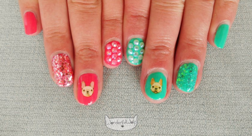 Side by Side French Bulldog Water Decals