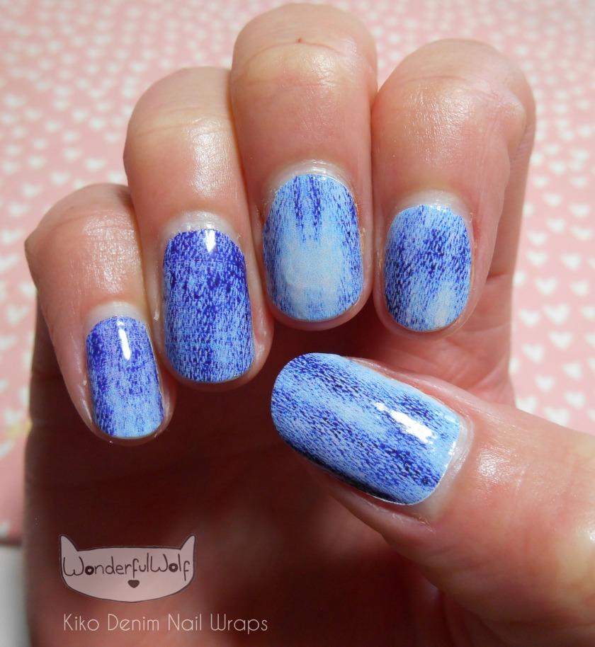 Kiko Nail Wraps Applied