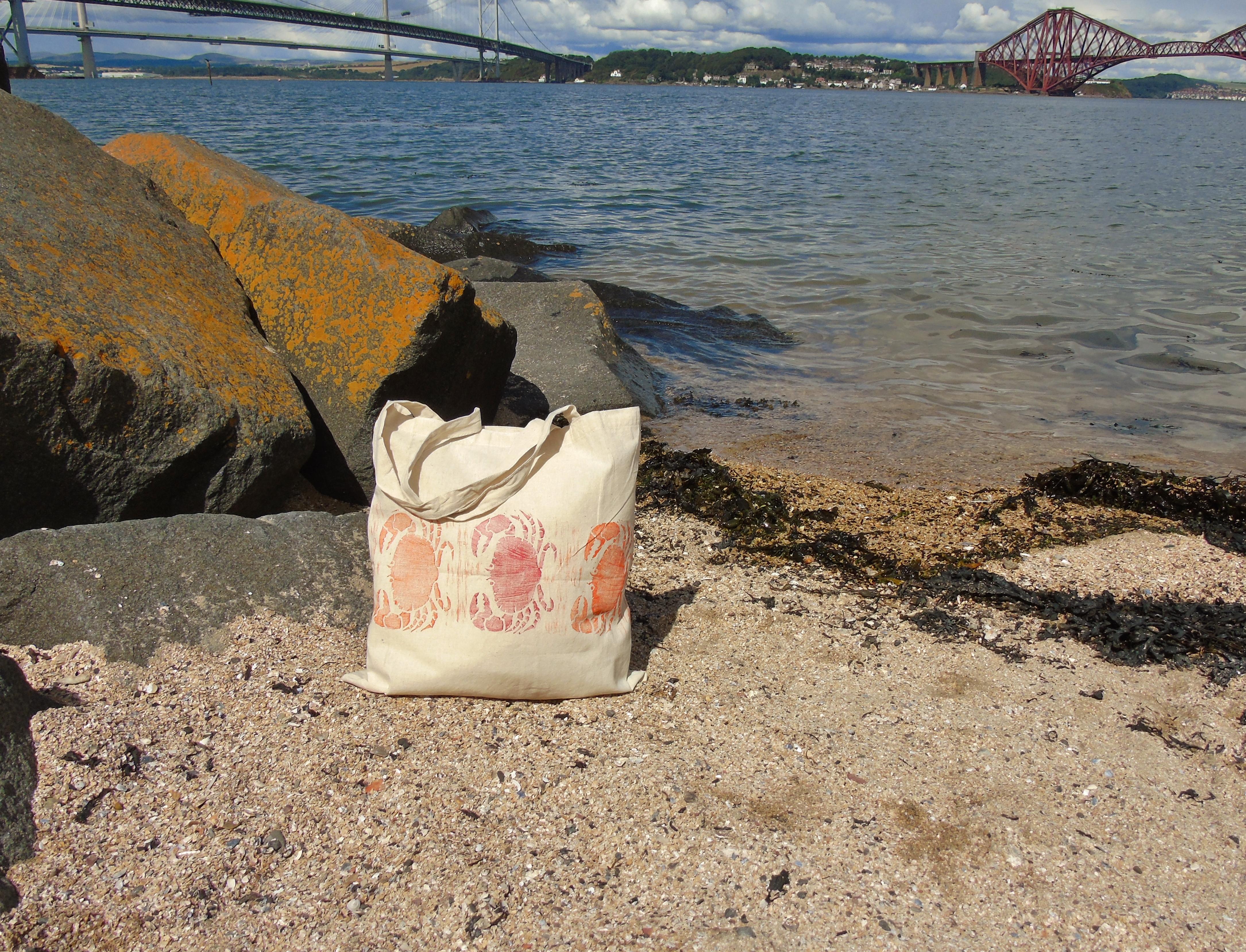 Crab Tote Bag Three Bridges.JPG