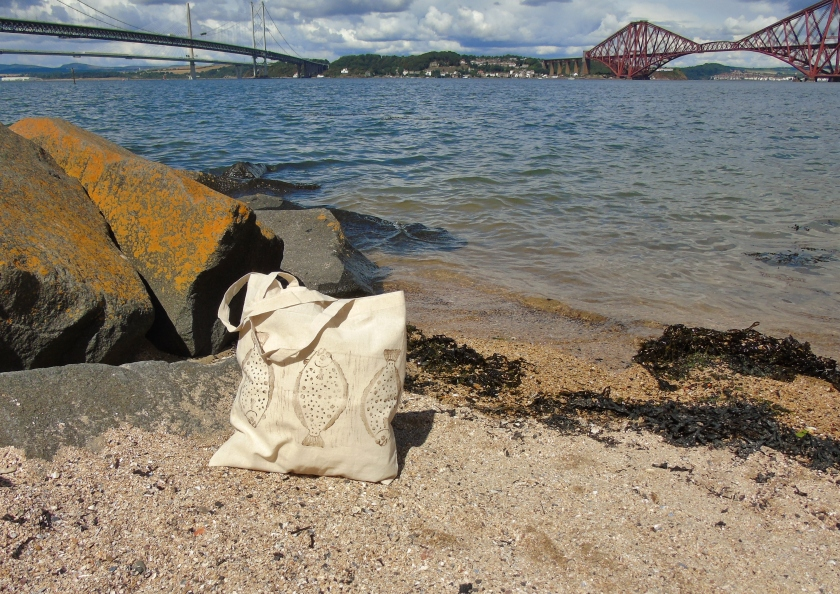 Flounder Tote Bag Three Bridges.JPG