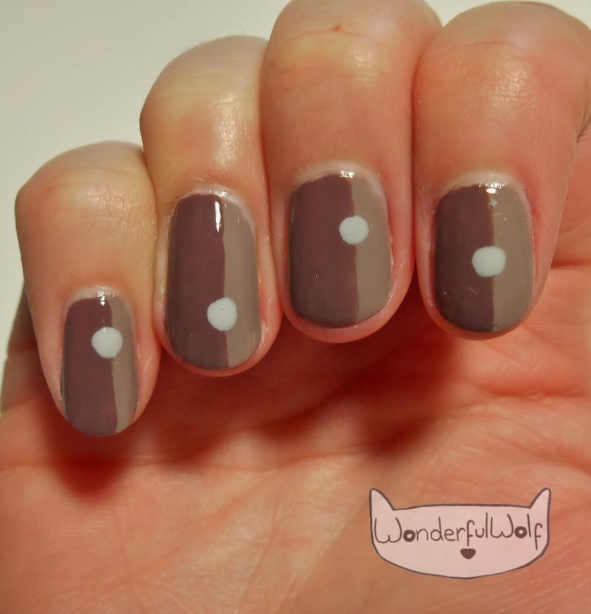 minimalist coffee nail art